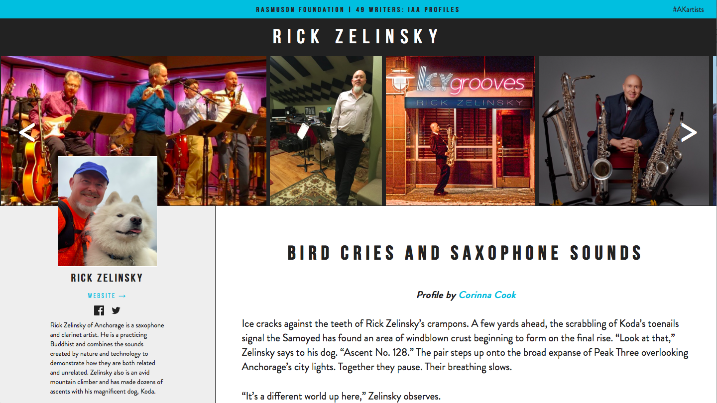 Bird Cries and Saxophone Sounds – Artists of Alaska: Through the Eyes of 49 Writers